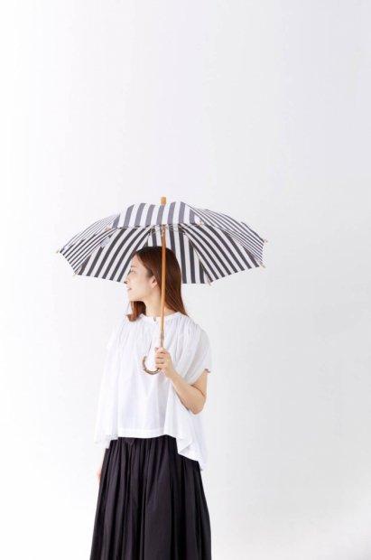 晴雨兼用長傘<br><ストライプ>