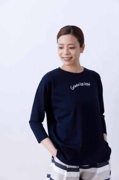 7分袖<br>プリントTシャツ<br>【Graavi】<br><コン>
