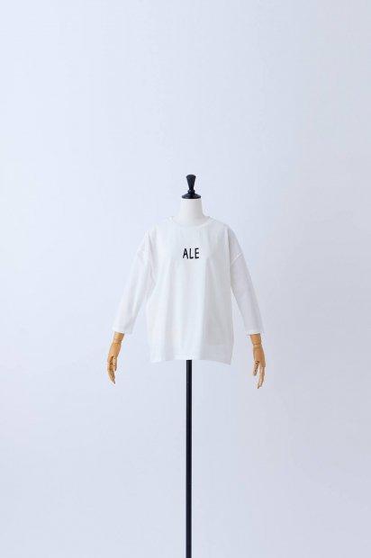 7分袖<br>プリントTシャツ<br>【ALE】<br><オフシロ>