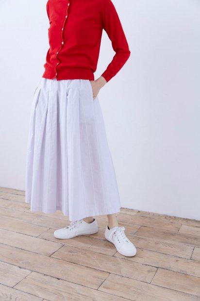 rivi刺繍<br>タックスカート<br><ライトグレー>