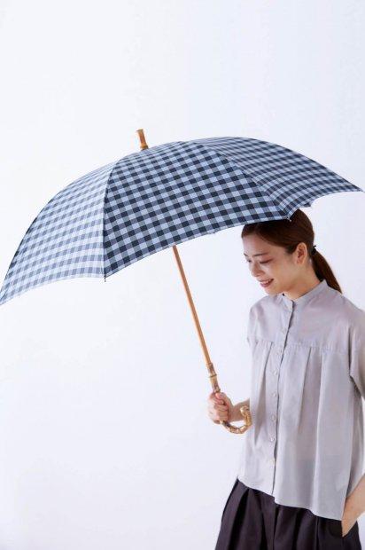 雨用長傘<br><ギンガムチェック>
