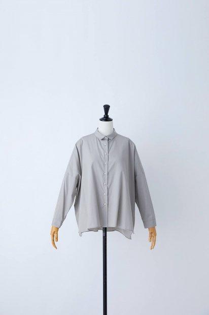 プレミアムクロスギザ<br>ビッグシャツ<br><グレー>