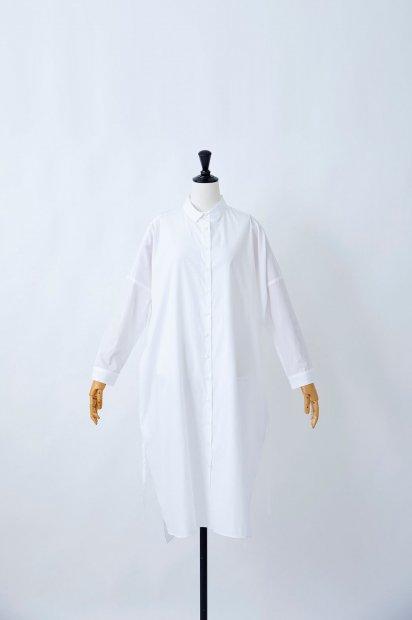 プレミアムクロスギザ<br>ビッグシャツ<br>ワンピース<br><シロ>