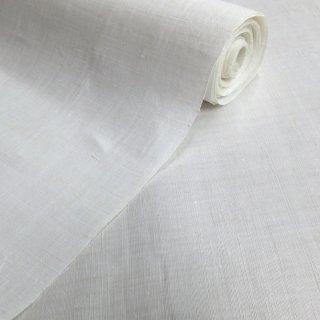 味のある手織り麻生地 生平(白) 10�
