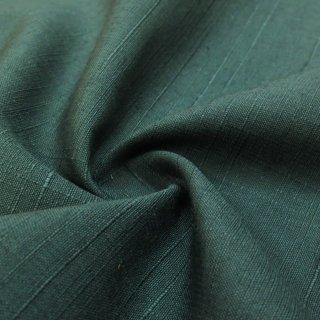西陣織 草木染め紬生地(深緑) 10�