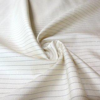 紬ストライプ生地 75�巾(白) 10�