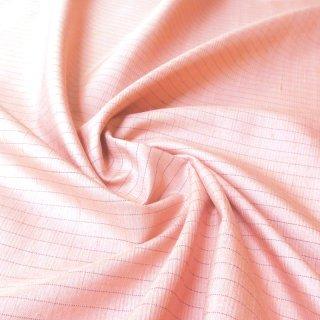 紬ストライプ生地 75�巾(ピンク) 10�