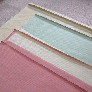 【在庫処分60%OFF】紬ストライプ生地 75�巾(4色まとめ5m以上)