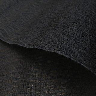 【最高の透け感】西陣シルク ジャガード織ヨロケ模様(黒) 10�