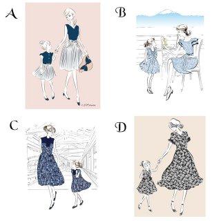 DOUDOUオリジナルポストカード2枚組(Mama&Girl)