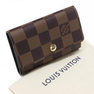 LOUIS VUITTON ルイヴィトン N62630 ミュルティクレ6 ダミエ エベヌ 6連フック キーケース