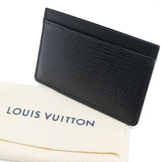 LOUIS VUITTON ルイヴィトン M63512 ポルト カルト・サーンプル エピ ノワール カードケース