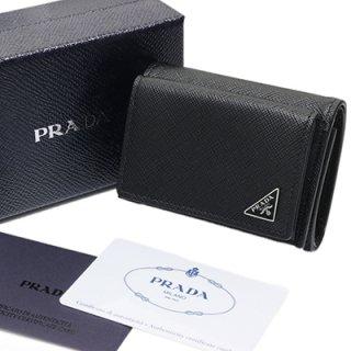 PRADA プラダ 2MH021 QHH F0002 SAFFIANO TRIANG NERO ブラック 三つ折り財布 コンパクト
