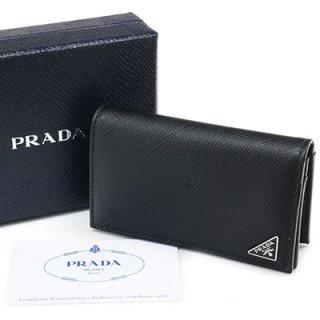 PRADA プラダ 2MC122 QHH F0002 SAFFIANO TRIANG NERO ブラック 名刺入れ カードケース トライアングルロゴ