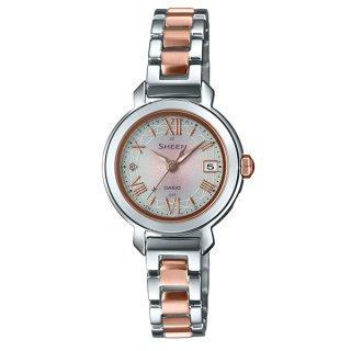 カシオ SHEEN SHW-5300DSG-4AJF ソーラー電波時計 スワロフスキークリスタル1P シーン レディース腕時計 国内正規品