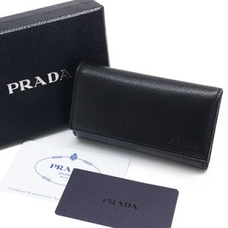 PRADA プラダ 2PG222 PN9 F0002 SAFFIANO1 NERO ブラック 6連フック キーケース