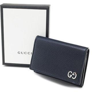 GUCCI グッチ 473923 A7M0N 4009 BLU ネイビー 名刺入れ カードケース