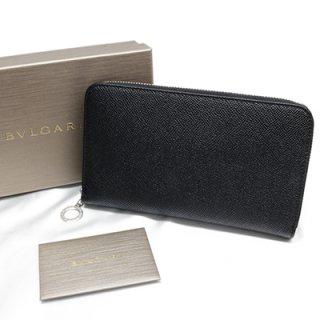 BVLGARI ブルガリ 36933 ブルガリブルガリ ブラック ラウンドファスナー 長財布