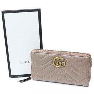GUCCI グッチ 443123 DRW1T 5729 PORCELAIN ROSE GGマーモント ラウンドファスナー 財布