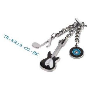 TROIKA トロイカ ミュージック TR-KR12-02 BK キーホルダー