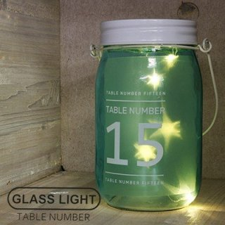 SLOWER GLASS LIGHT TABLE NUMBER SLW105 グラスライト 星形 スター BLUE 15