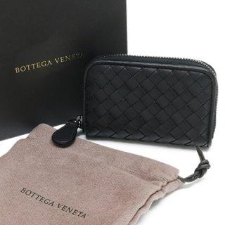 BOTTEGA VENETA ボッテガヴェネタ 114075 V001N 1000 INTRECCIATO ブラック イントレチャート コインパース 小銭入れ カードケース