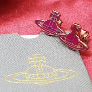 Vivienne Westwood ヴィヴィアン ウエストウッド BE169/38 ピンク×ピンクゴールド ピアス オーブ キャッチ式