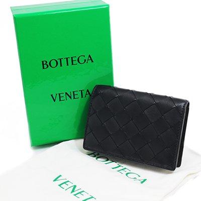 BOTTEGA VENETA ボッテガヴェネタ 593115 VCPP3 8803 NERO ブラック 名刺入れ カードケース スナップボタン型