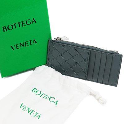 BOTTEGA VENETA ボッテガヴェネタ 591379 VCPQ3 1607 INTRECCIATO イントレチャート SLATE グレー カードケース コインケース スリム