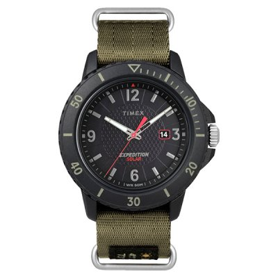 TIMEX タイメックス ガラティン ソーラー ブラック×グリーン TW4B14500 メンズ腕時計 国内正規品