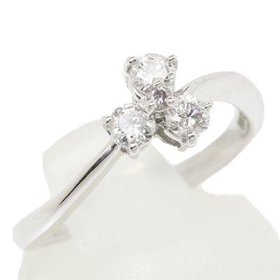 K18ホワイトゴールドリング ダイヤモンド 0.27 0.02 10.5号 2.4g 中古商品 ランクB