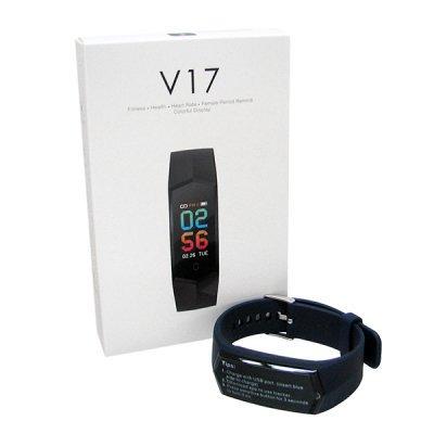 CAVOSMART Fitness tracker V17-BL/ブルー スマートウォッチ フィットネストラッカー 心拍計 歩数 消費カロリー 睡眠モニター 活動量計
