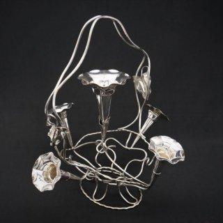 アールヌーボー|朝顔モチーフのイパーン(花瓶)