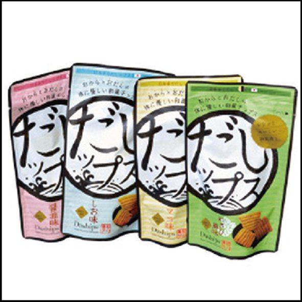 おからとおだしの和風チップス<p></p> 「だしップス」醤油味 20袋