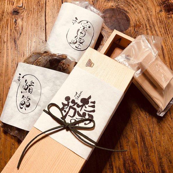 【送料無料】かんな削り器セット「杉初の節 じぶんだしセット」(だしつゆ入り)