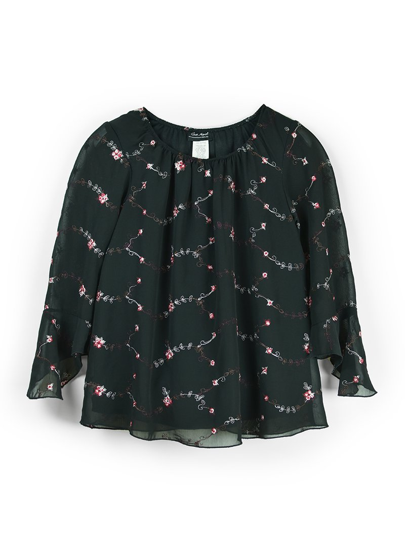 USED Floral Embroidery Blouse