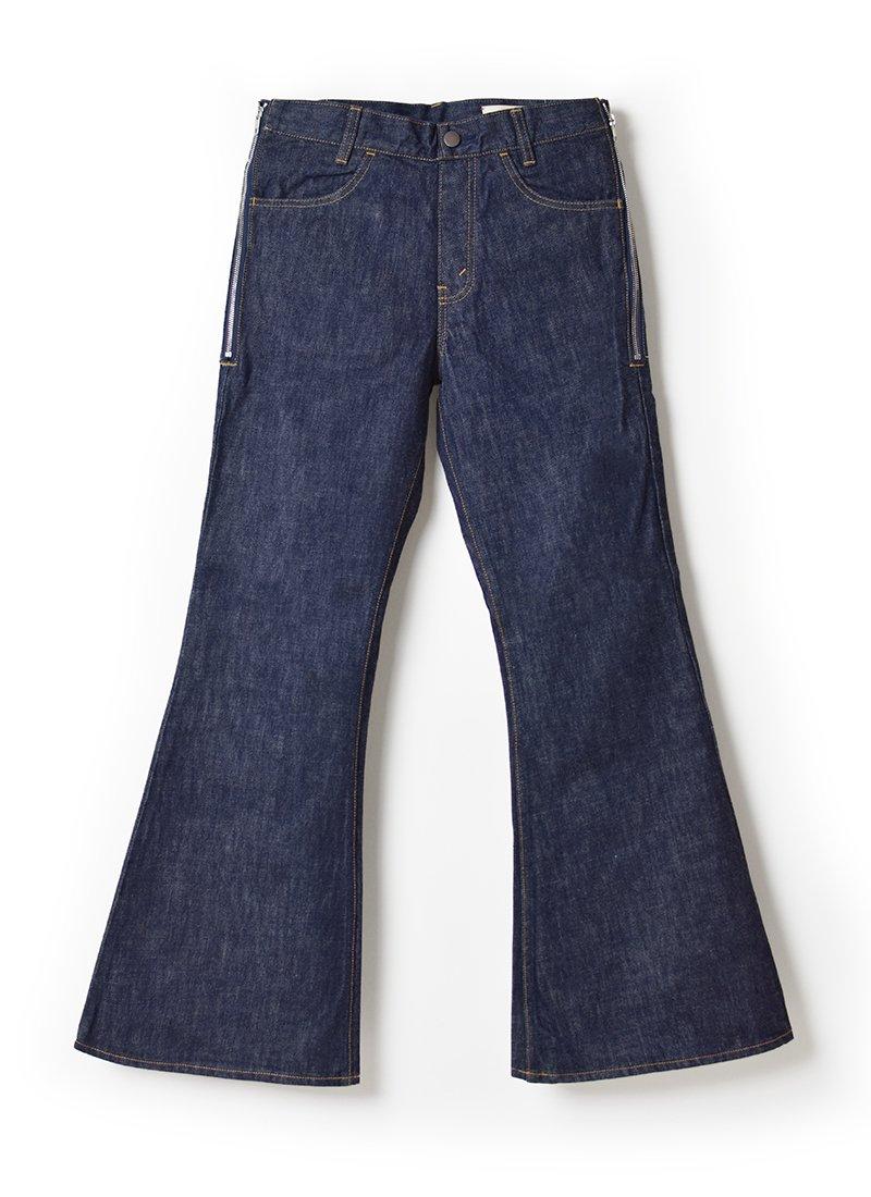 MEYAME Side Zip Flare Jean
