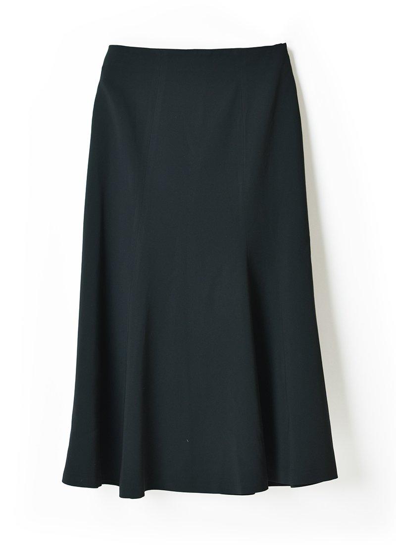 USED Black Triacetate Skirt