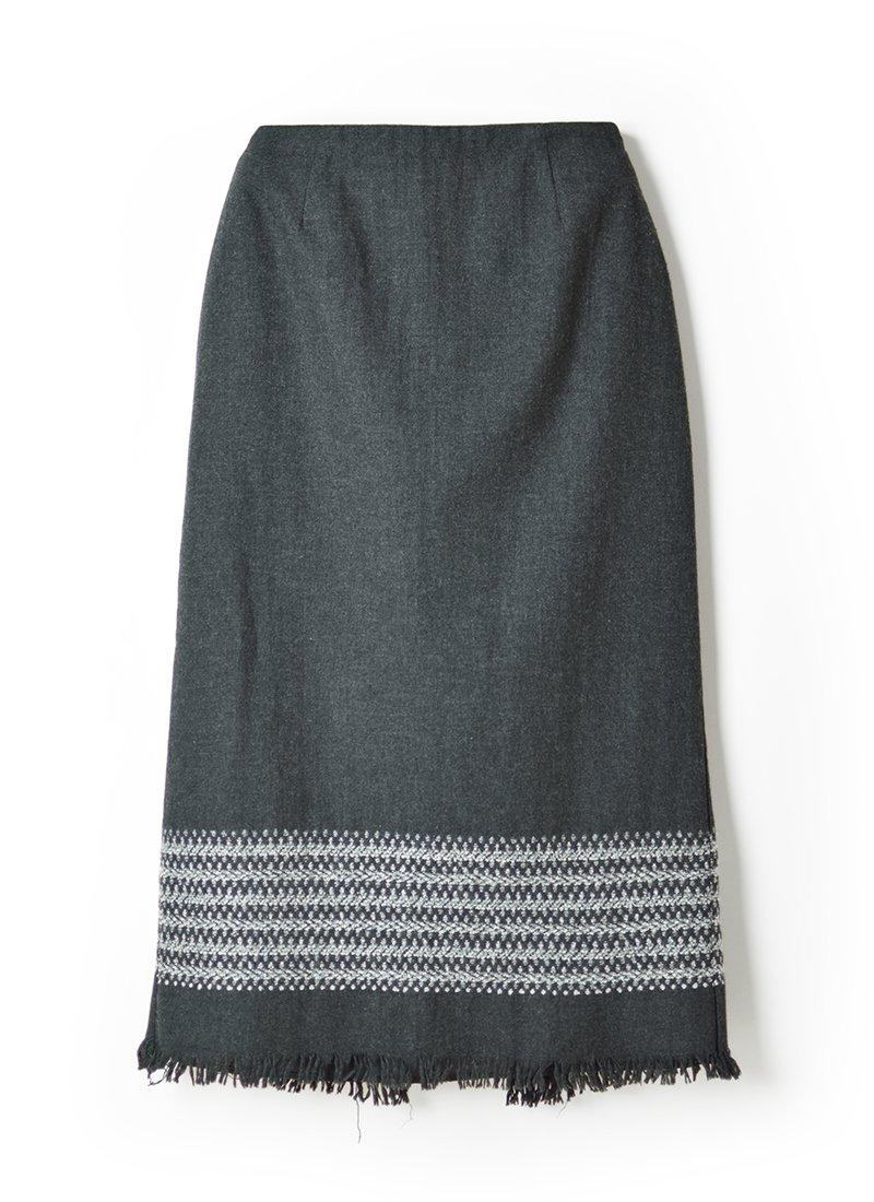 USED Native Fringe Skirt