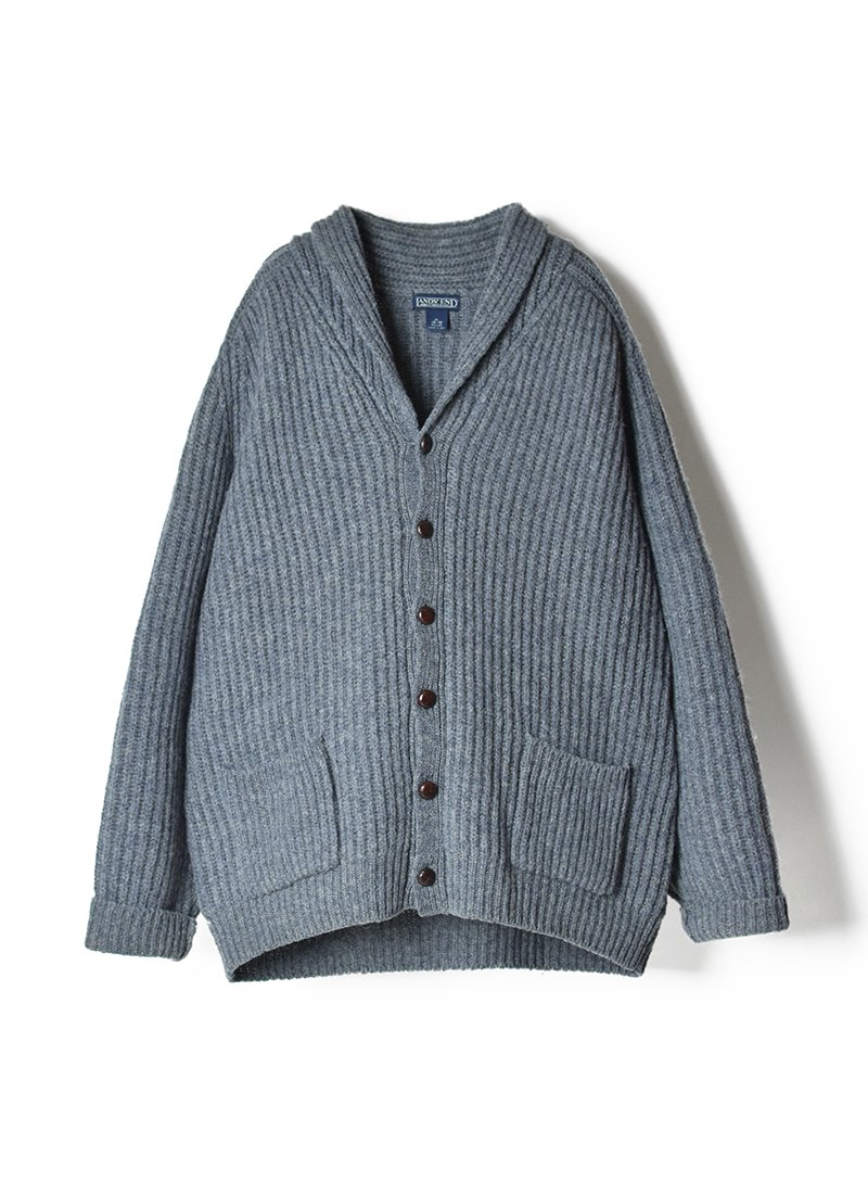 USED LANDS' END Wool Knit Cardigan