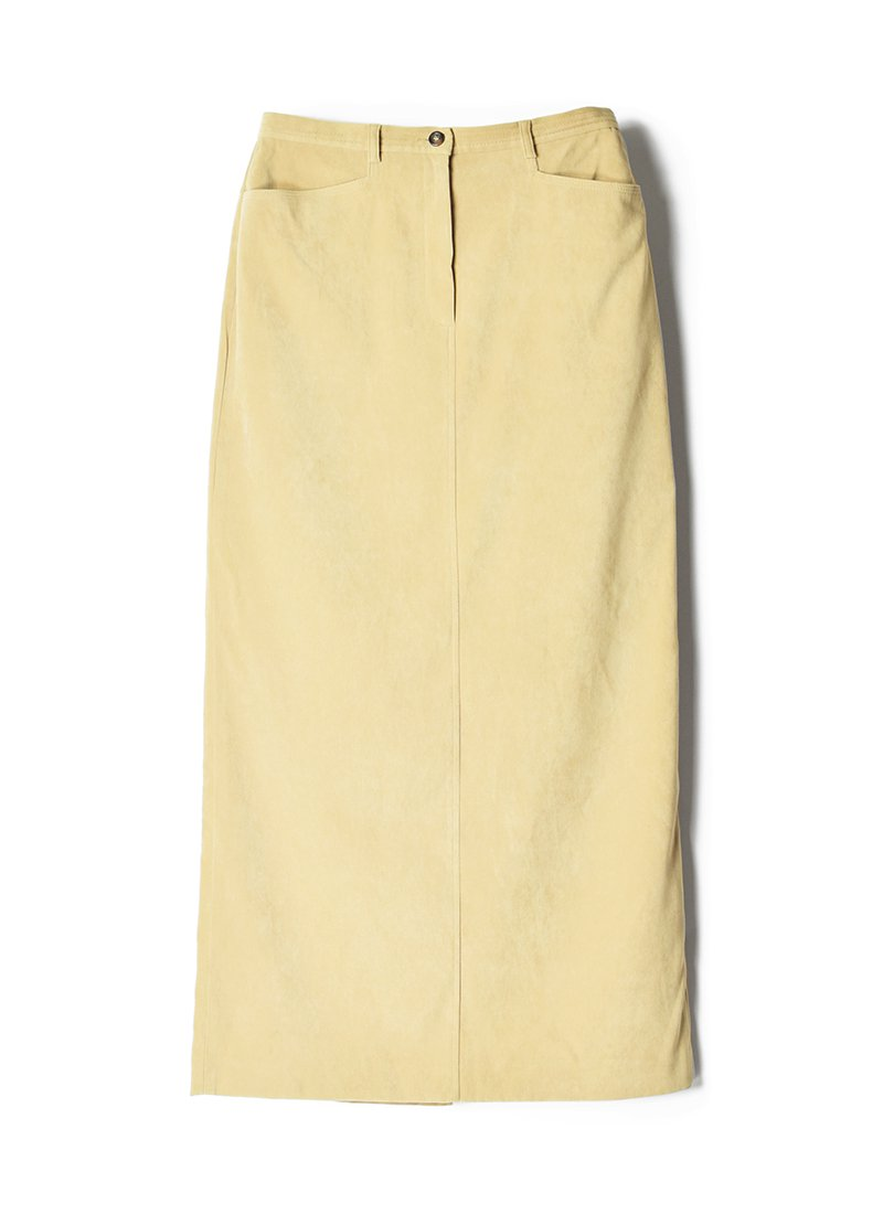 USED Suede Long Skirt
