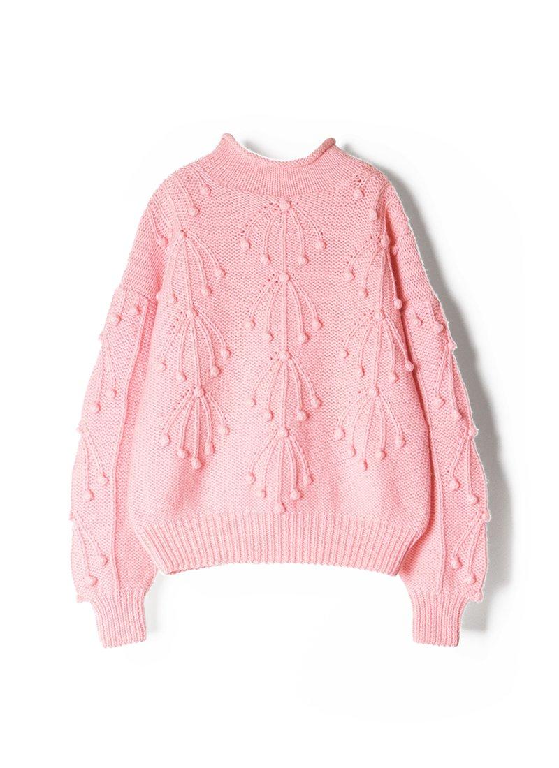 USED Wool Design Sweater