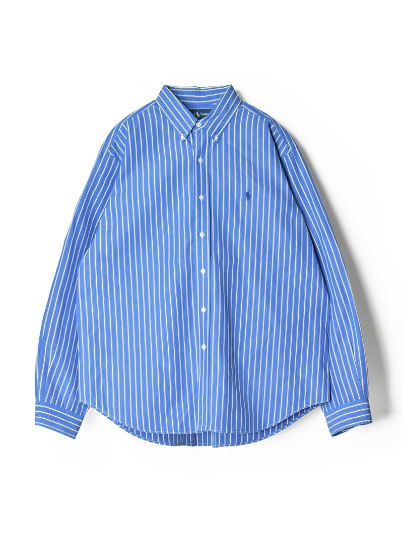 USED RALPH LAUREN Stripe B.D.Shirt