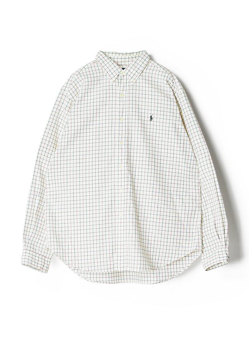 USED RALPH LAUREN Check B.D.Shirt