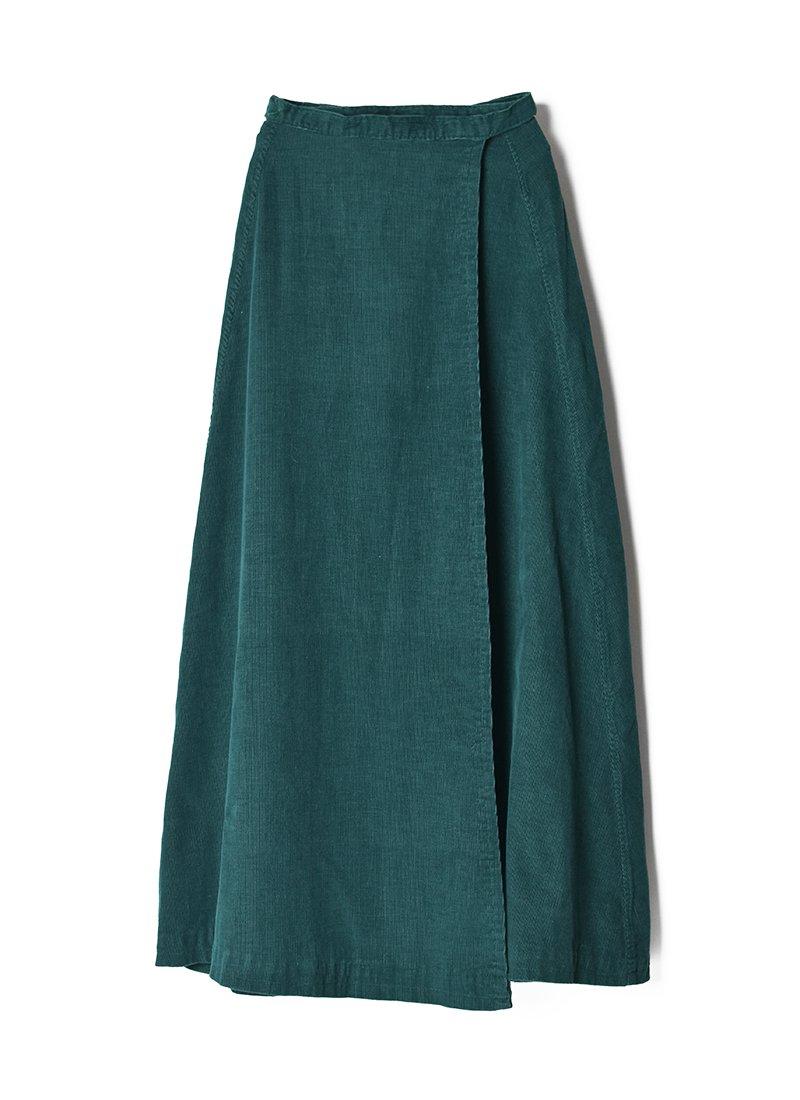 USED Corduroy Long Skirt