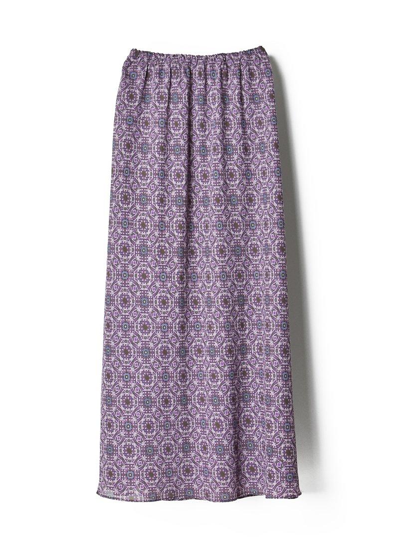USED Printed Design Reversible Long Skirt