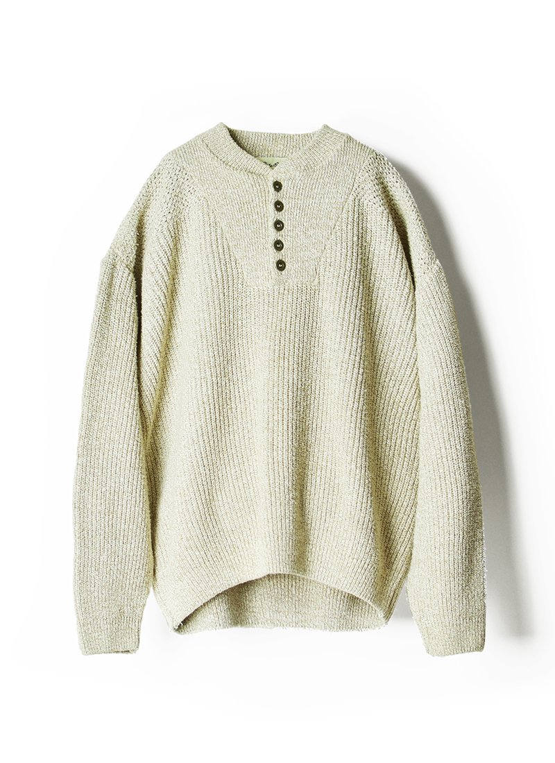 USED Eddie Bauer Buttoned Pullover Cotton Sweater