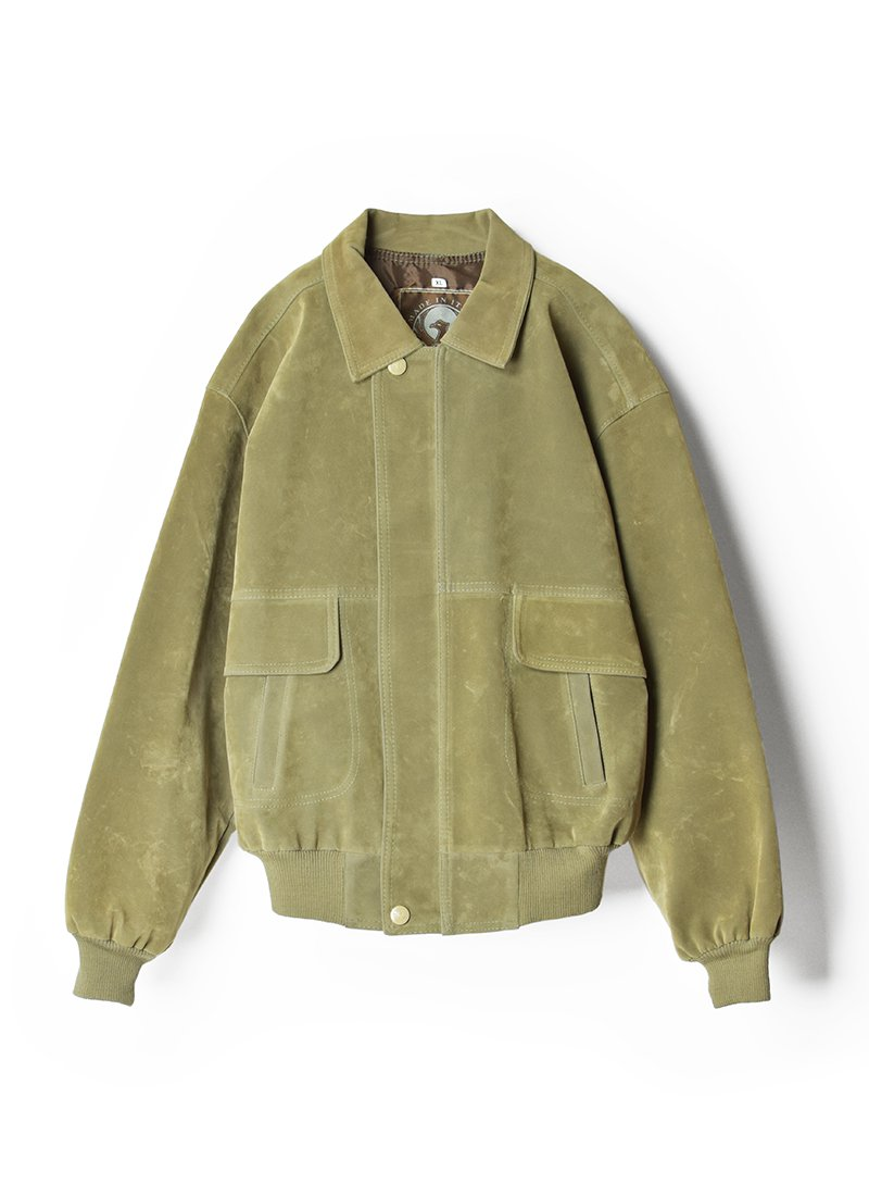 USED Italy Made Faux Suede Jacket