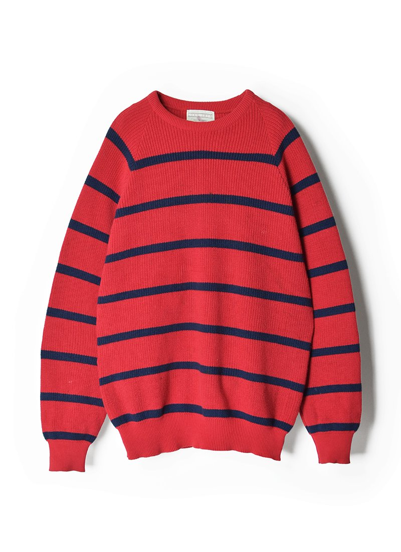 USED LORD JEFF Border Cotton Knit