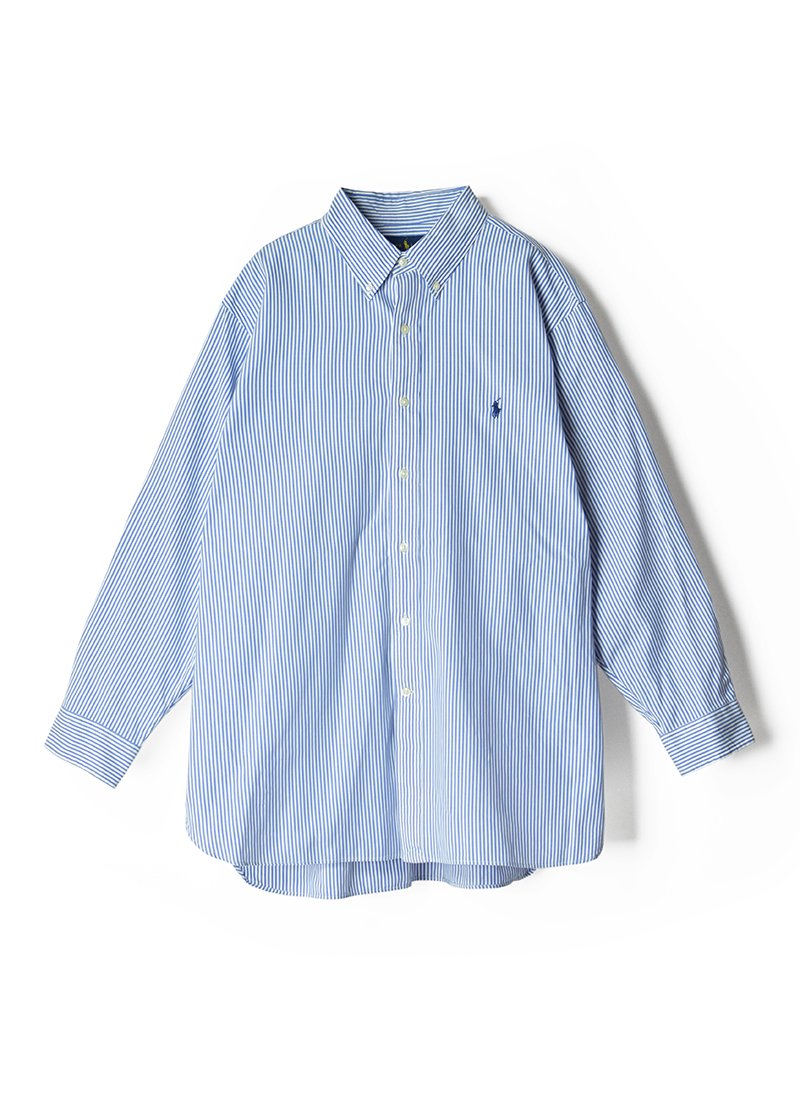 USED RALPH LAUREN Stripe B.D.Shirt No.10